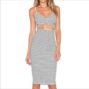 Nookie Domino Body Con Dress Cut-Out Lined NWT M